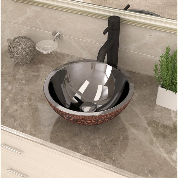 Moor Metal Circular Vessel Bathroom Sink by ANZZI