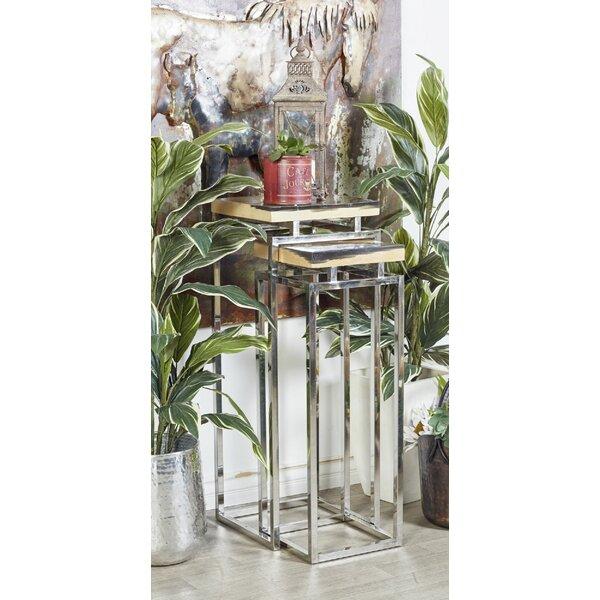 Waquoit Contemporary 2 Piece Nesting Table by Brayden Studio