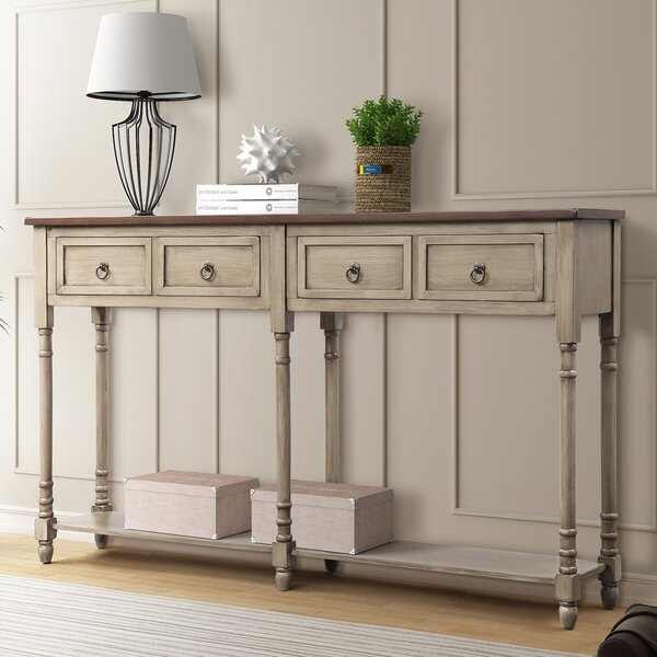 One Allium Way Brown Console Tables