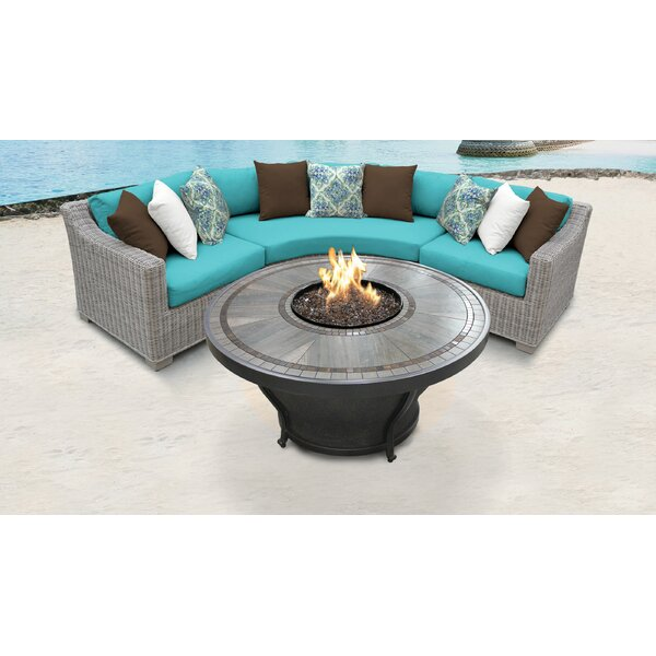 Coast 4 Piece Sectional Seating Group with Cushions by TK Classics