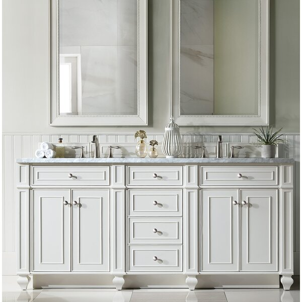 Lambrecht 72 Double Bathroom Vanity Set by Alcott Hill