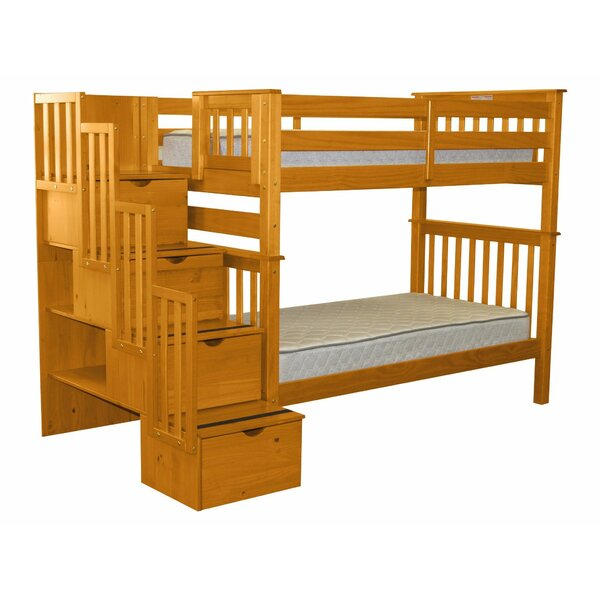Tena Tall Twin Over Twin Bunk Bed with Drawers by Harriet Bee