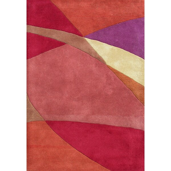 Earnestine Hand-Woven Pink/Red Area Rug by Threadbind