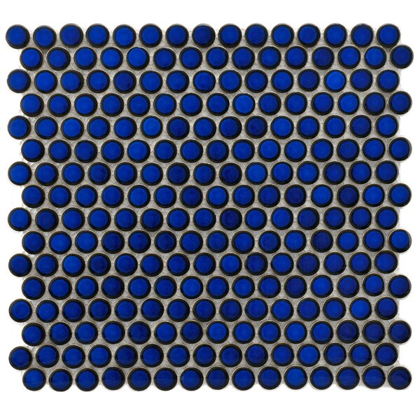Penny 0.8 x 0.8 Porcelain Mosaic Tile in Blue Eye