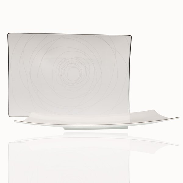 Orbit Rectangular Bone China Platter by Red Vanilla