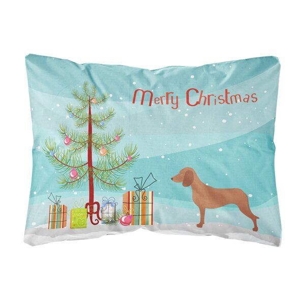 Excelsior Bavarian Mountian Hound Christmas Indoor/Outdoor Throw Pillow by The Holiday Aisle