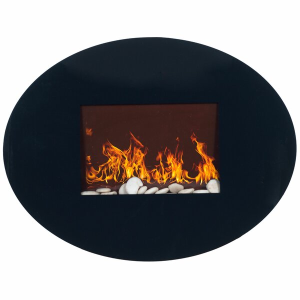 Rayfield Oval Wall Mounted Electric Fireplace By Orren Ellis