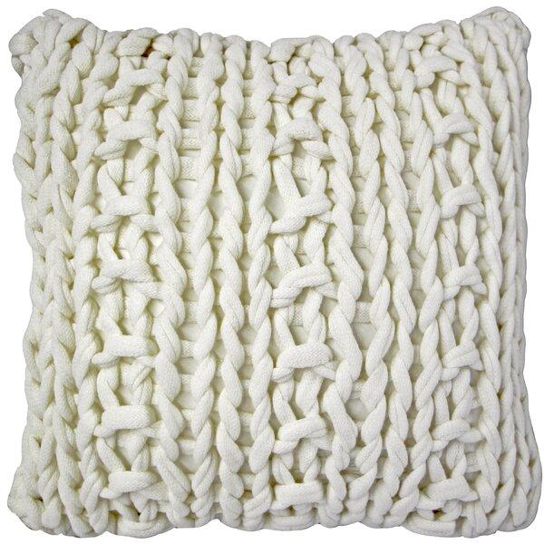 Agatha Chunky Knit Throw Pillow by Gracie Oaks