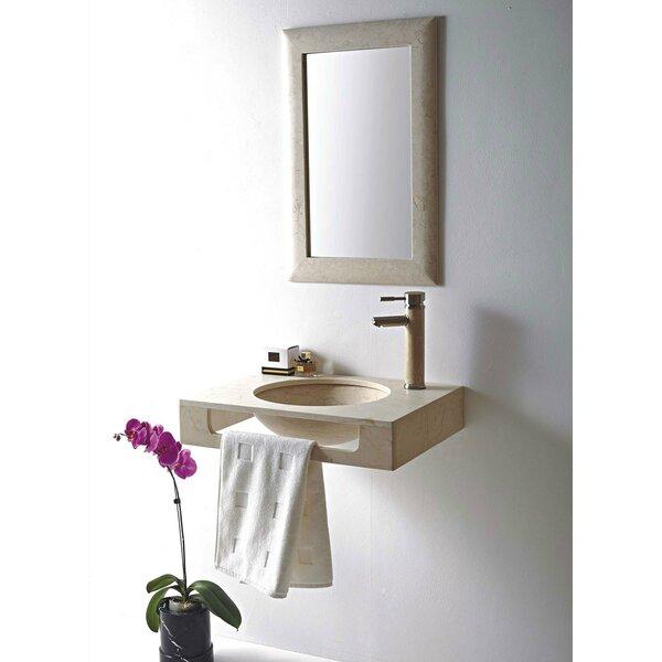 Rome Stone 24 Wall Mount Bathroom Sink by MTD Vanities