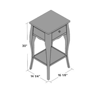 Read Reviews Waterfoot End Table ByBeachcrest Home