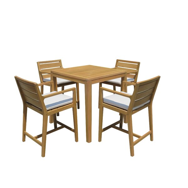 Esperance 5 Piece Bar Height Dining Set by Bayou Breeze