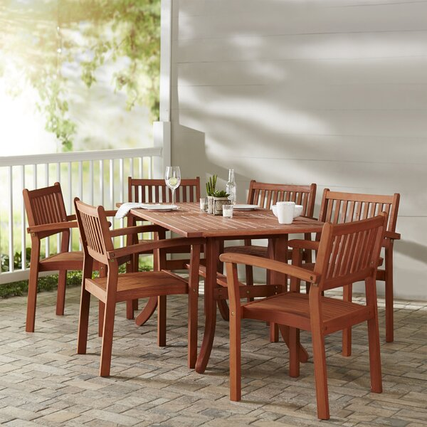 Best  Monterry Patio 7 Piece Dining Set By Beachcrest Home Comparison