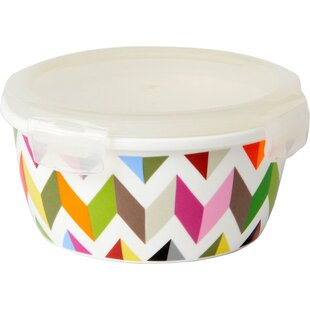 Ziggy Round Porcelain 20 Oz. Food Storage Container (Set Of 2)