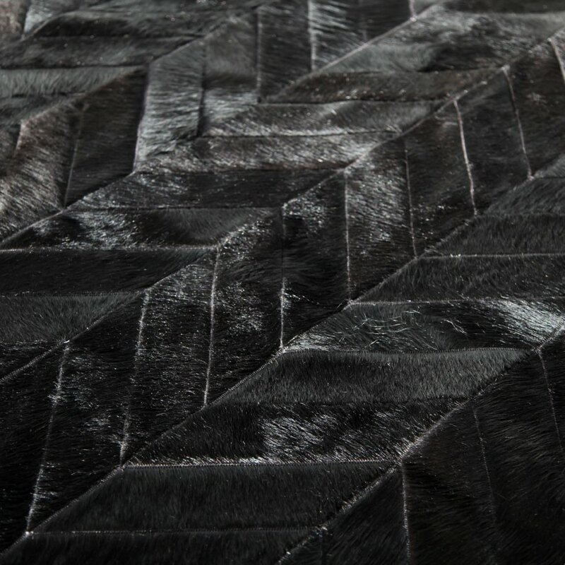 Pure Rugs Patchwork Cowhide Chevron