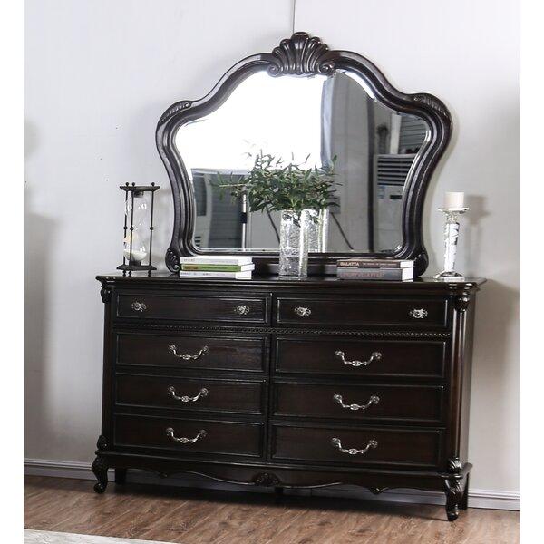 Gottlieb 8 Drawer Double Dresser with Mirror by Astoria Grand