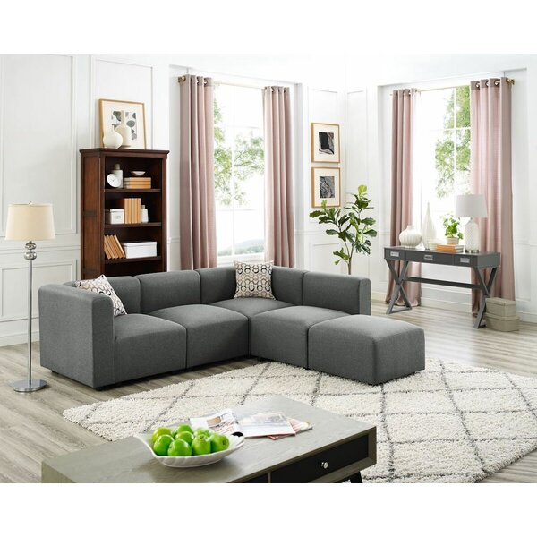 Kirby Modular Sectional with Ottoman by Wrought Studio