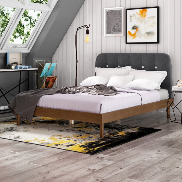 Boone Upholstered Platform Bed by Trule Teen