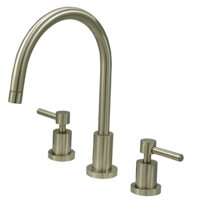 South Beach Double Handle Widespread Kitchen Faucet by Elements of Design