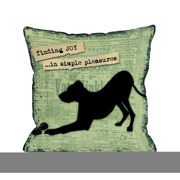 Doggy Décor Finding Joy in Simple Pleasures Throw Pillow by One Bella Casa