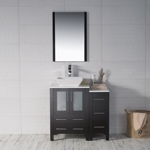 Mance 36 Single Bathroom Vanity Set with Mirror