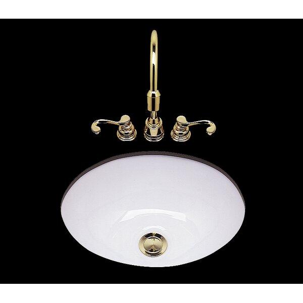 Teri Ceramic Circular Drop-In Bathroom Sink by Bates & Bates