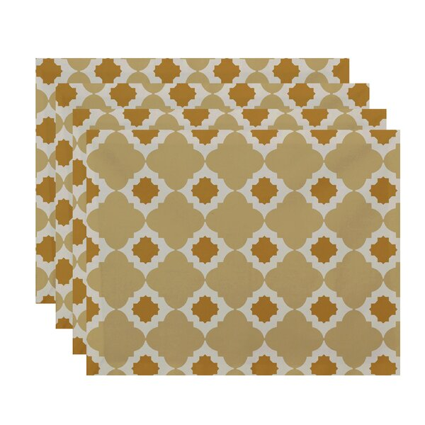 Nikhil Geometric Print Placemat by Bungalow Rose
