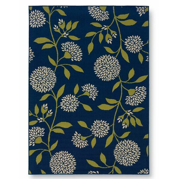 Floral Surry Blue Indoor/Outdoor Area Rug by Plow & Hearth