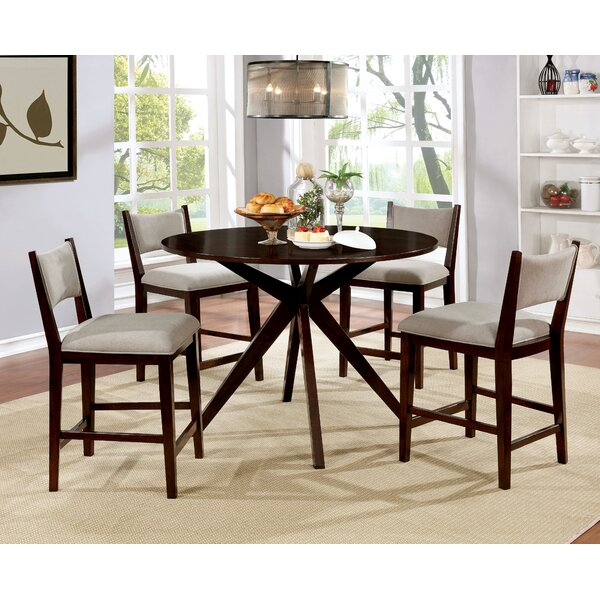 Goza 5 Piece Pub Table Set by Wrought Studio
