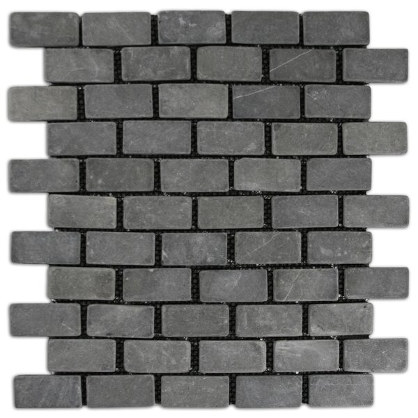 Gambia 1 x 2 Natural Stone Mosaic Tile in Gray by CNK Tile