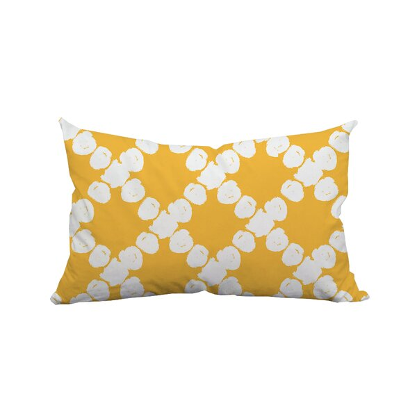 Round the Way Polka Dot Lumbar Polyester Pillow by Positively Home