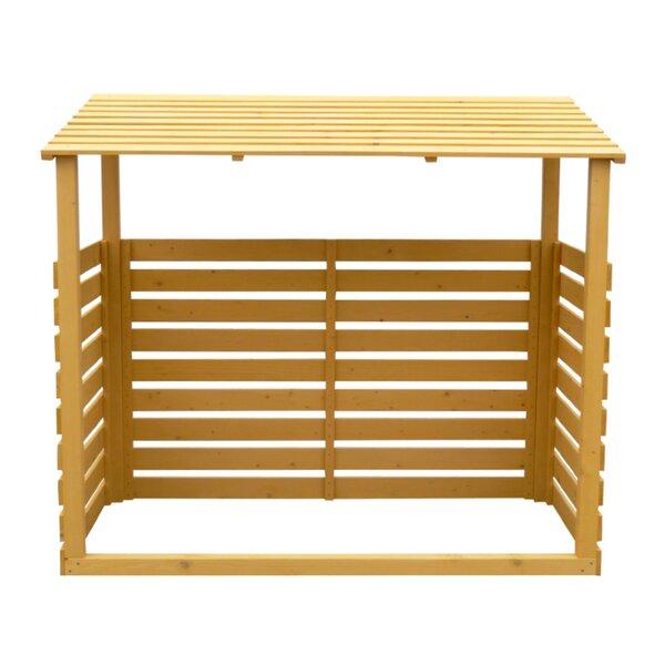 6 ft. W x 2.5 ft. D Wood Log Store by Leisure Season