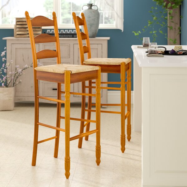 Erma 30 Ladder Back Bar Stool (Set of 2) by August Grove