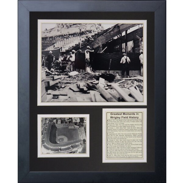 Wrigley Field Construction Framed Memorabilia by Legends Never Die