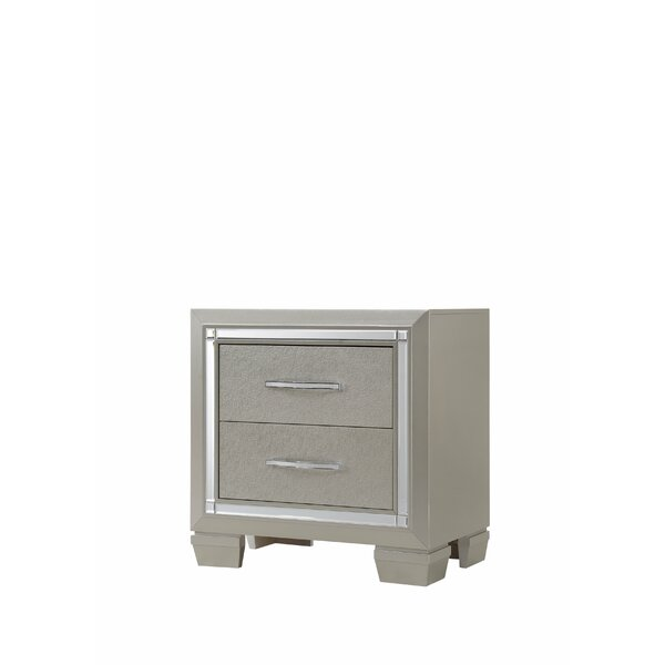 Lawlor 2 Drawer Nightstand by Rosdorf Park