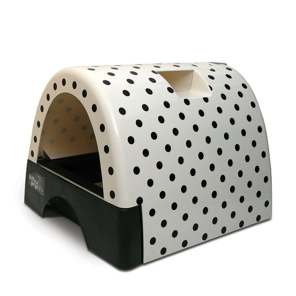 Jayne Designer Cat Litter Box with Polka Dot Cover by Tucker Murphy Pet
