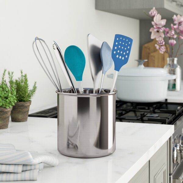Jumbo Stainless Steel Utensil Holder by Rebrilliant