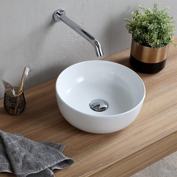 Round Ceramic Vessel Bathroom Sink by Scarabeo by Nameeks