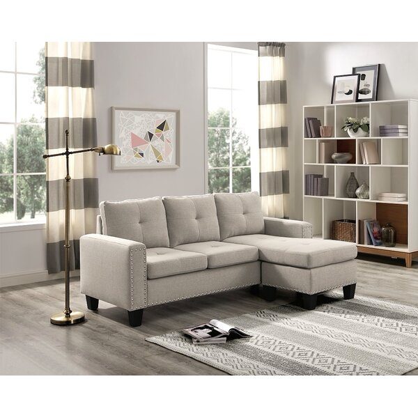 Steck Reversible Sectional by Ebern Designs