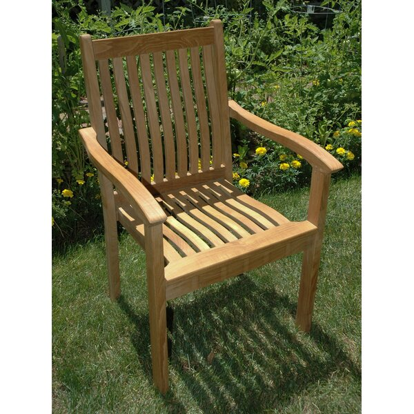 Rossford Stacking Teak Patio Dining Chair (Set of 4) by Red Barrel Studio Red Barrel Studio