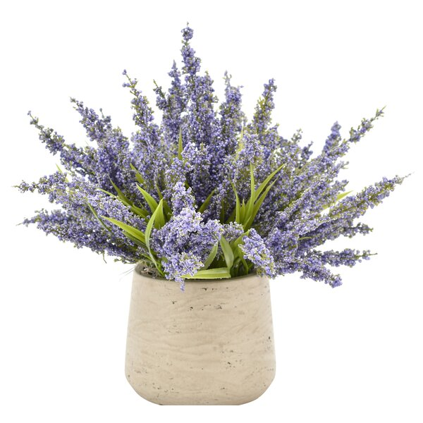 Heather Centerpiece in Rustic Pot by Gracie Oaks