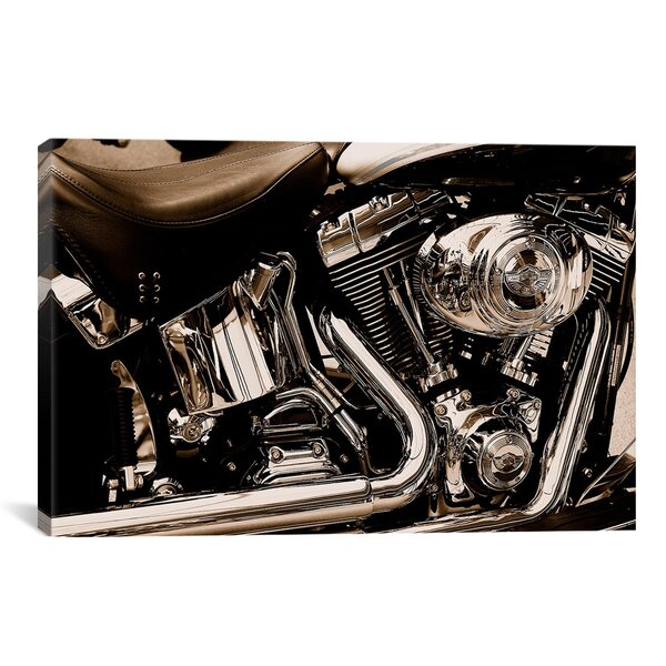 Photography Harley Motorcycle Photographic Print on Canvas by Trent Austin Design
