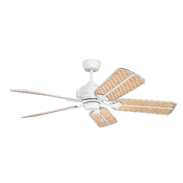 22 Matte White Outdoor Ceiling Fan Blade Set (Set of 5) by Bay Isle Home