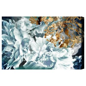 'Dos Gardenias Light Turquoise' Graphic Art Print on Canvas by Oliver Gal