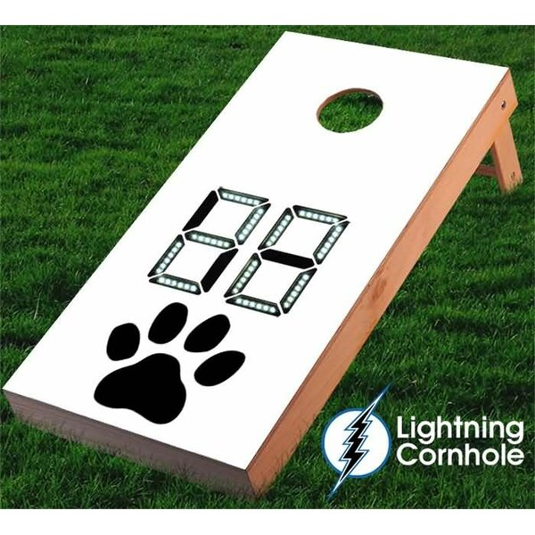 Electronic Scoring Paw Print Cornhole Board by Lightning Cornhole