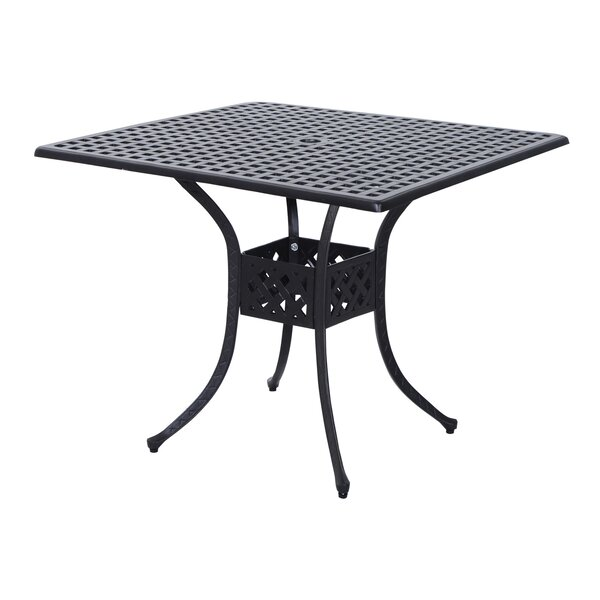 Malia Metal Bistro Table by Charlton Home