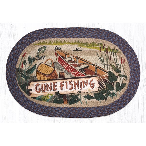 Gone Fishing Printed Area Rug by Earth Rugs