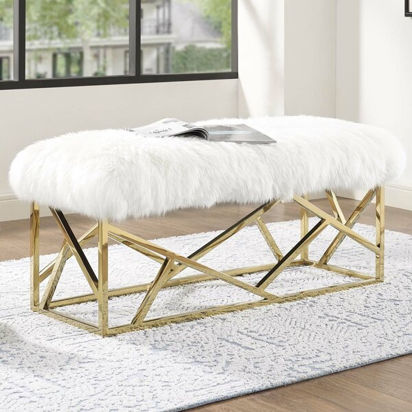 Deborah Upholstered Bench by Everly Quinn