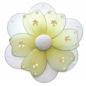 Flower Hanging Multi-Layered Nylon 3D Wall Decor by Bugs-n-Blooms