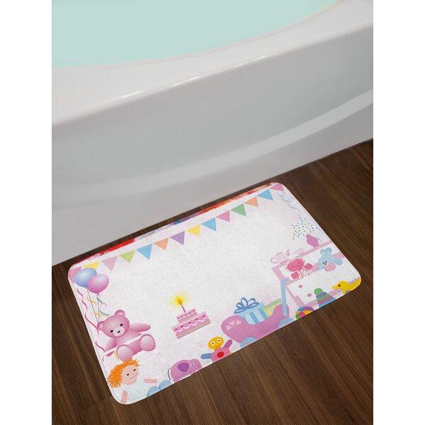 Baby Girl Birthday Kids Birthday Bath Rug by East Urban Home