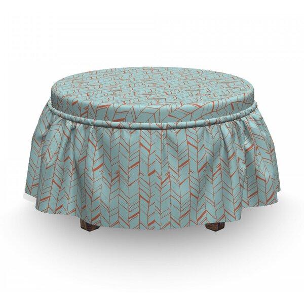 Home Décor Herringbone Sketchy Ottoman Slipcover (Set Of 2)
